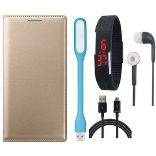 Redmi Y1 Leather Flip Cover with Digital Watch, Earphones, USB LED Light and USB Cable by Vivacious