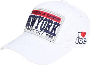 White Newyork imported Cap for women  men