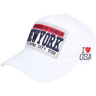Buy White Newyork imported Cap for women men Online   ₹499 from ShopClues 4b2b9613b5c5
