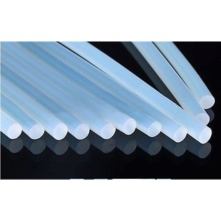 Kudos Transparent Heavy Gumming Hot Melt Glue Stick For Glue Gun Long Size (10 Sticks)