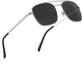 Royal Son Unisex Black Square UV Protection Sunglasses