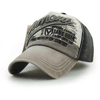 d6ae136a4fb Buy Grey Cool Trendy JNMT Caps Hats Headgear Sports Tennis Cap for Men Guys  Free Size Online - Get 44% Off