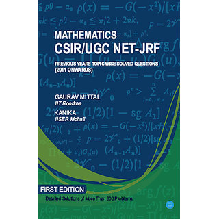 Mathematics CSIR/UGC NET-JRF previous years topic wise solved questions (2011 onwards)