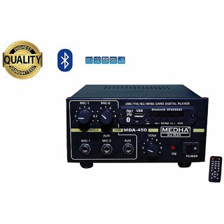 MEDHA PROFESSIONAL MDA-450 USB BLUETOOTH P.A. AMPLIFER WITH DIGITAL MEDIA PLAYER
