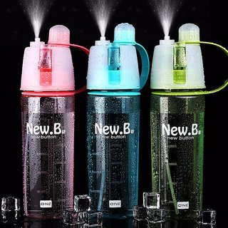 New.B Plastic Spray Direct Drinkingfor Sports 600 ml Water Bottle