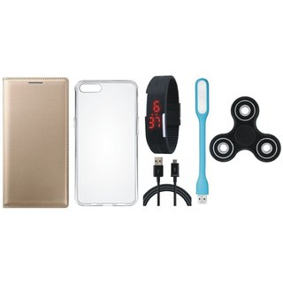Redmi Y1 Lite Cover with Spinner, Silicon Back Cover, Digital Watch, USB LED Light and USB Cable by Vivacious