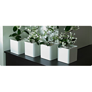 225 & The New Look Metal Plant Flowers Pot Set of 4