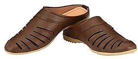 Aaiken Men's  Casual Slip-on Loafers Brown