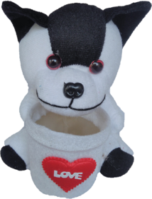 Soft Toy Dog With Pen Stand
