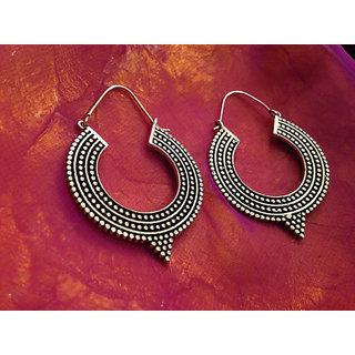 Cemaya Designer Hoop earrings for women and Girls (Gold)