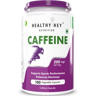 HealthyHey Caffeine Capsules (200 mg) - 100 Veg Capsules