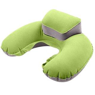 Aeoss Portable Travel Pillow Inflatable Neck U-shaped Pillow Ear Plug  Eyes Mask Exploding Neck Cushion PVC Flocking