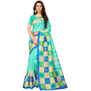 DOUBLE CHECKS FIROZI (BHAGALPURI SAREES) NEW BOLLYWOOD-INDIAN-DESIGNER-PARTY-WEAR-ETHNIC Peria-Apparel