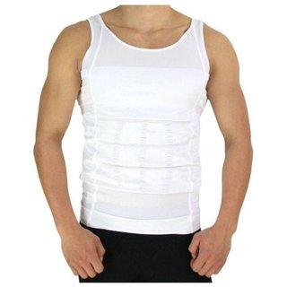 12793a0d42 Buy body shaper vest men XL- white Online - Get 67% Off