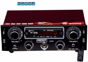 MEDHA D.J. PLUS Car Home Stereo Audio Amplifier Mp3 Music Player USB, FM Radio, Aux In, With Top Quality