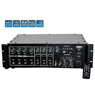 MEDHA D.J. PLUS 350W Professional High Power PA Amplifier with Digital Media Player And Cooling Fan Inbuilt