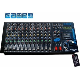 MEDHA D.J. PLUS Professional 12 Channel Stero Echo Mixer With Digital Media Player