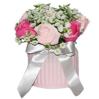 JADES Ceramic Pink Shiny Home Dcor Planters
