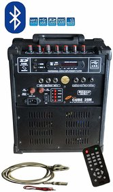 MEDHA D.J. PLUS Portable Rechargeable PA Amplifier Cube-28 With Speaker  Digital Media Player