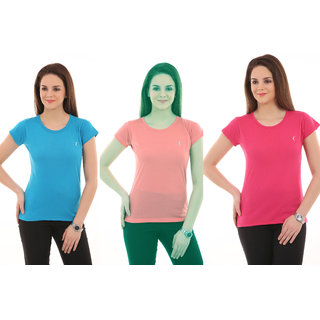 (pack of 3),Ultrafit Branded Trendy Unique Soft Round Neck T-Shirts.