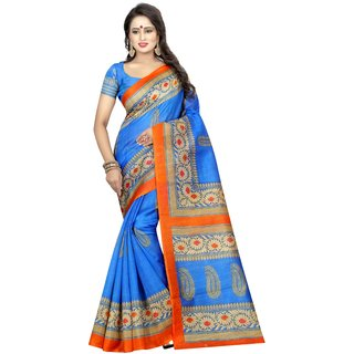 SAMPURNA BLUE (BHAGALPURI SAREES) NEW BOLLYWOOD-INDIAN-DESIGNER-PARTY-WEAR-ETHNIC Peria-Apparel