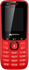 Micromax X424+ Mobile Phone (Red)