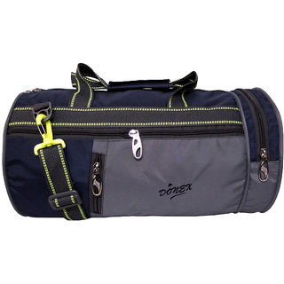 b9846cf79cfc Buy Donex Trendy 21 L Nylon Gym Travel Bag Nevy Blue Grey RSC01865 ...