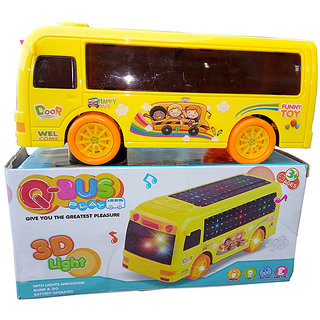 OH BABY Q-BUS IN THIS 3D LIGHT  MUSICAL POWER YELLOW COLOR WITH AUTOMATIC SENSOR BUS FOR YOUR KIDS SE-ET-09