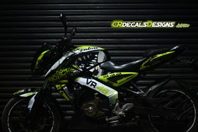 CR Decals Pulsar NS 200/160 Full Body Wrap Custom Decals VR 46 Shark 46 PROJECT Kit-Neon