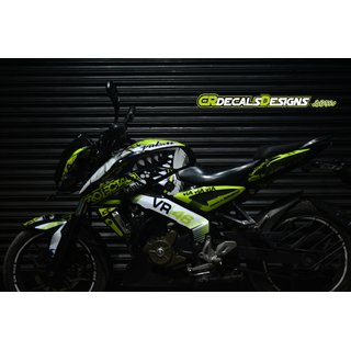 Pulsar NS 200/160 Full Body Wrap Custom Decals VR 46 Shark 46 PROJECT  Kit-Neon