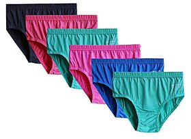 WORTH PACK OF (6) WOMEN'S INNER WEAR LADY WORLD PURE COTTON AND SMOOTH FIT ALWAYS IT WOMEN CHOICES PANTIES