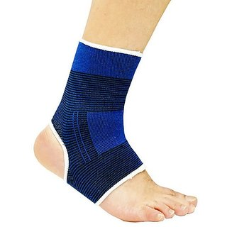 De-Ultimate Pack Of 1 Pair Fitness Gym Support Exercise Band protection Ankle Support (Free Size Blue)