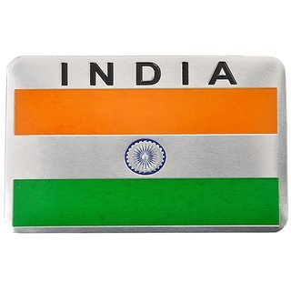 Indian Inside 3D Chrome Emblem Badge Logo Sticker for Car accessories flag india
