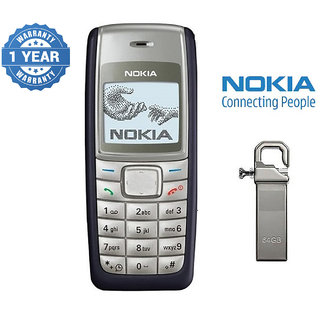 Nokia 1110 / Good Condition/ Certified Pre Owned (1 Year Warranty) with 64GB Pendrive