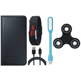 K6 Note Cover with Spinner, Digital Watch, USB LED Light and USB Cable