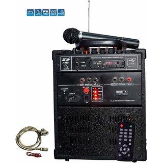 Medha D.J. Plus Professional Cube-28 Wireless Portable Public Address System With FM USB  Remote