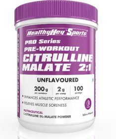 HealthyHey Sports Citrulline Malate 21 - 200 Grams  100 Servings (Unflavoured, 200gm)