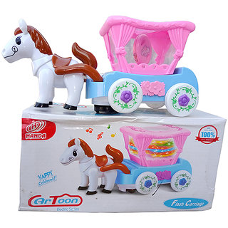 OH BABY, BABY 3D LIGHT HORSE  MUSICAL POWER WITH AUTOMATIC SENSOR PINK COLOR HORES FOR YOUR KIDS SE-ET-16
