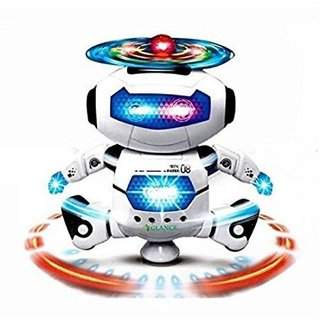 Shribossji Dancing Robot With Music For Kids (Multicolor)