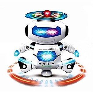 Shribossji Dancing Robot With Music For Kids (Multicolor)