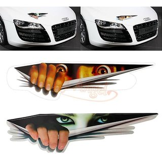 Waterproof 3D Funny Monster Peeking Auto Car Wall Window Sticker Graphic Decal