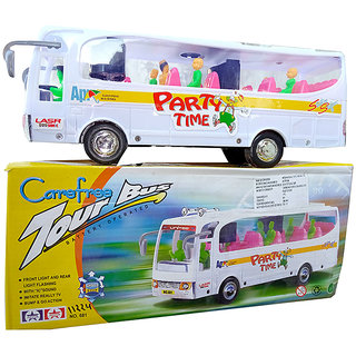OH BABY BABY TOUR-BUS IN THIS 3D LIGHT  MUSICAL POWER WITH AUTOMATIC SENSOR THAN TOUR travelling WHITE COLOR SE-ET-24