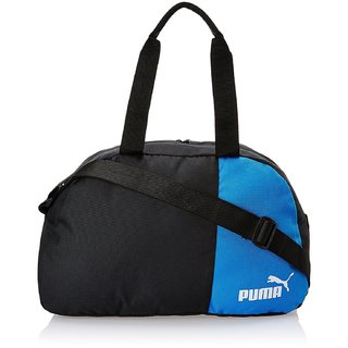 Puma Black and Team Power Blue Polyester Messenger Bag (7291002)