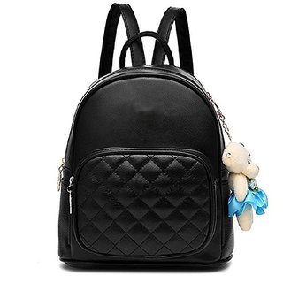d8c32cb1c98f Buy Styler king Women Girls Ladies Backpack Fashion Shoulder Bag Rucksack  PU Leather Travel bag (black) Online - Get 79% Off