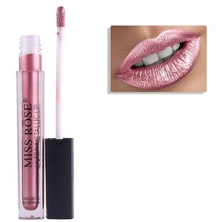 Miss rose Long Lasting Waterproof Metallic Lipgloss