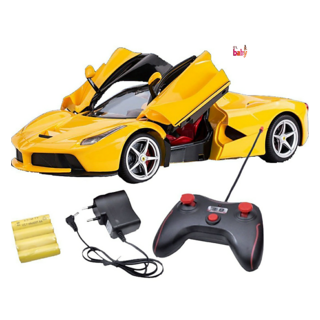 OH BABY, BABY  MUSICAL POWER WITH Remote Controlled YELLOW COLOR with Opening Door CAR FOR YOUR KIDS SE-ET-39