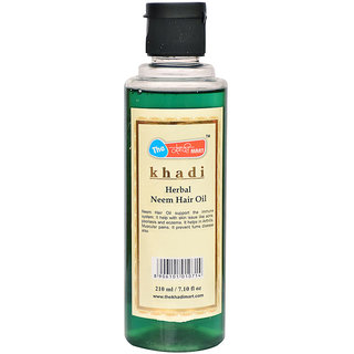 Khadi Mart Herbal Neem Hair Oil - 210ml