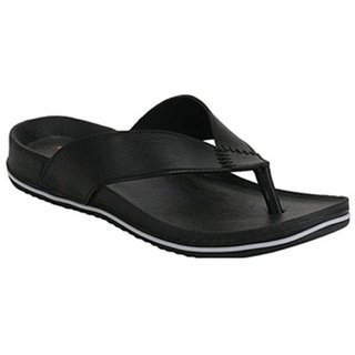 Clymb Black Synthetic PVC Casual Slippers For Men