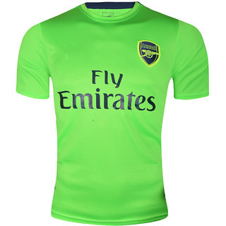 new concept f272f 7c38c Arsenal Green Colour Dry Fit Half Sleeve Round Neck Jersey