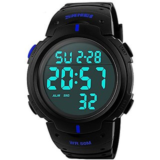 idivas 111 NEW Readeel Simple Sport Watch Display Watch Outdoor Men Watch Student Multifunction Digital Watch,Blue 6 MONTH WARRANTY